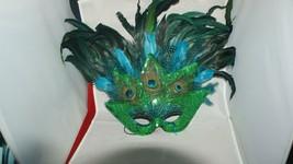Large Feathered Masquerade Mask - $30.00