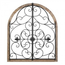 Arched Wood And Iron Wall Dcor - $75.99