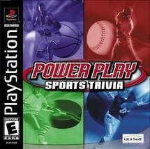 Power Play: Sports Trivia (Sony PlayStation 1, 2002) - $2.99