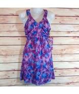 Buba Moda Lavender & Blue Floral Print Sleeveless Midi Dress Small NWT - $23.00