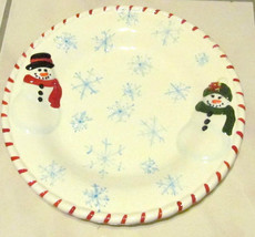 The Holiday Snowfolk Cookie Ceramic Christmas Plate Premiere Edition Col... - $12.99