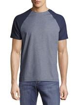 NEW MENS VINCE CAMUTO CREW NECK RAGLAN-STYLE BLUE PIMA COTTON T SHIRT TE... - $27.71