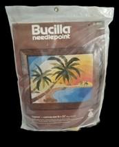 Vintage Bucilla Lagoon needlepoint 4163 crewel wool yarn size 16 x 20 new - $57.42