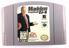 Madden 64 N64 Nintendo Football Cartridge Only 1997 Tested and Working  - $7.87
