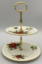 Royal Albert Poinsettia 2 - Tiered serving tray ( SP / BB )  - $30.00