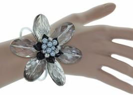 Chunky Semi Precious Stones & Crystals Bold Statement Cuff Bracelet - $16.65