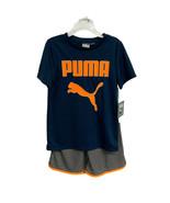 PUMA 2 Pièces Vêtement de Sport T-Shit Et Short Petit Garçons Taille 5 - $20.25