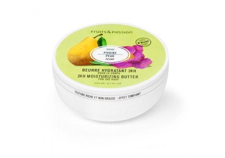 Fruits & Passion  24h Moisturizing Body Butter  200 Ml - Pear Peony