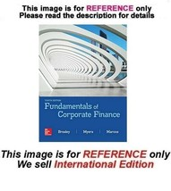 Fundamentals of Corporate Finance, 10th edition (ISE, Exclude Access Card) - $49.90