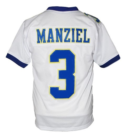 Johnny manziel  3 tivy high school new men football jersey white 2