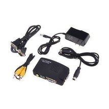 TV RCA Composite S-video AV In to PC VGA LCD Out Converter Adapter Box B... - $28.00