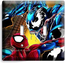Spiderman Vs Venom Superhero Double Light Switch Wall Plate Boys Room Home Decor - $9.71