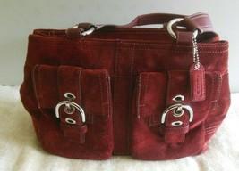 Coach Maroon Suede Handbag F06S-8A22 - $84.15