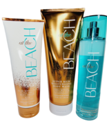 Bath & Body Works AT THE BEACH 3pc Gift Set Body Cream Mist Moisture Was... - $44.45