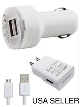 USB Charging Sync Cable + Dual USB Car Charger + Home Wall Charger Samsung C2
