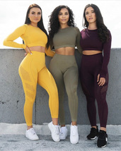 Leggings Yoga Gym Stretch Pants Top Jogging Training Pants Sports Ladies - $27.90