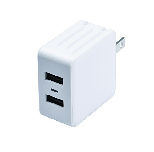 Zenith PM1002UW31 Duel USB Wall Charger, White