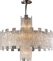 Pendant David Michael Lighting Round 11-Light Brass Murano - $8,229.00