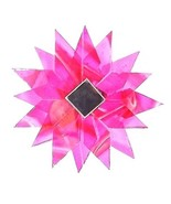 ROSE PINK HANGING GLASS MANDALA STAR POINTS SUNCATCHER MOBILE MIRRORED R... - $12.60