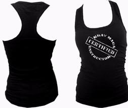 Krav maga instructor certified women razorback slim fit sleeveless tank top - $12.99
