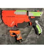 Nerf Vortex Vigilon Disc Launcher Gun with Nerf Jolt Single Shot Pistol - $14.84