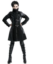 New Punk Rave Gothic Vampire Heavy Metal Jacket Coat Y427BL Fast Postage - $100.72