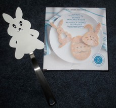 NEW Williams Sonoma Easter 3 pc Pancake Molds and Bunny Spatula Set - $30.66 CAD