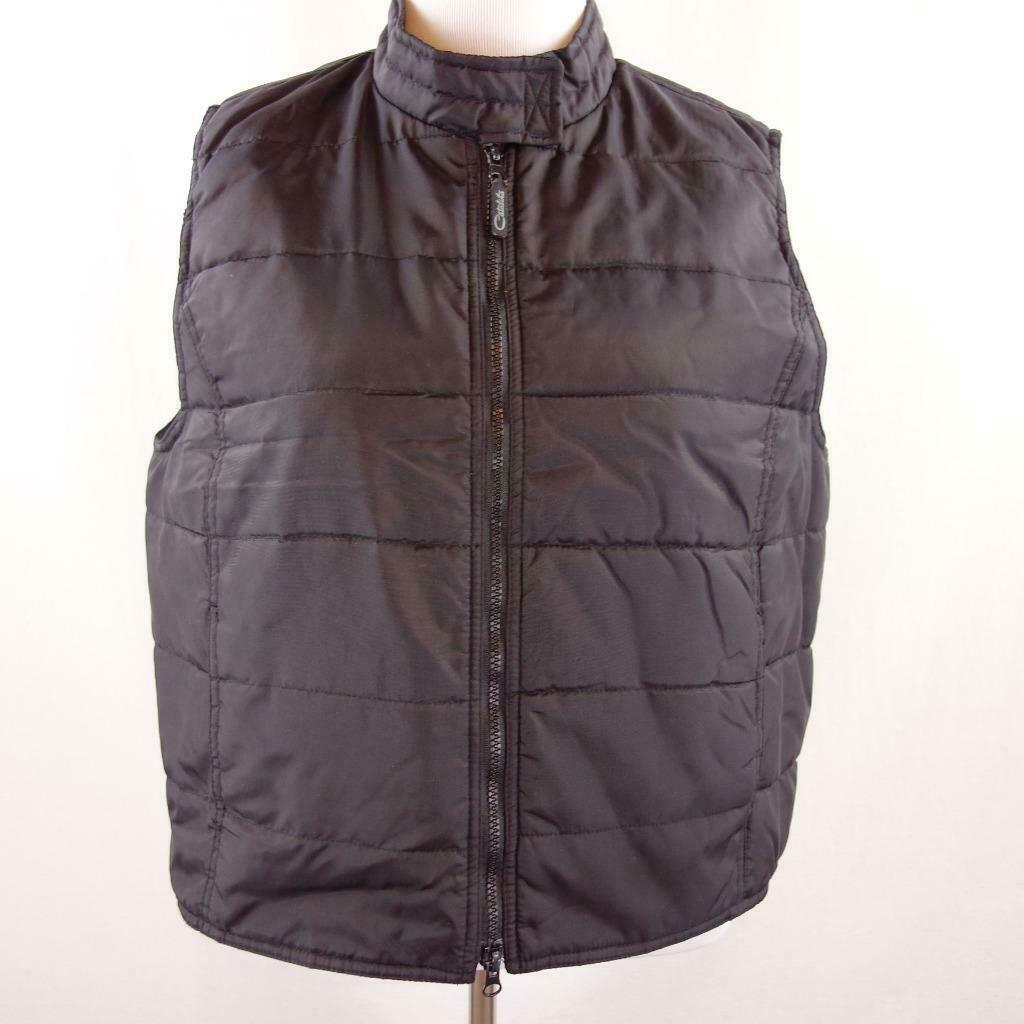 Primary image for Catalina Black Nylon Double Zip Front Vest Womens Sz XL 16 - 18