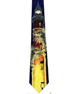 Tropical Beach Lighthouse Mens Neck Tie Nautical Blue Necktie Novelty Gi... - $15.79