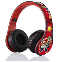 Super Mario Nintendo Black Red Headphones FM, Bluetooth & SD CARD - $26.00