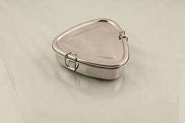 1 Tier small Steel triangle Lunch Box  Tiffin Box Food Container Indian  - $22.36