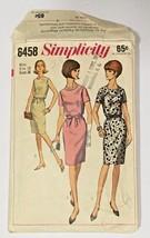 Simplicity Dress Sewing Pattern 38 Bust Sz 18 Wiggle Sheath Women Vtg Fr... - $16.83