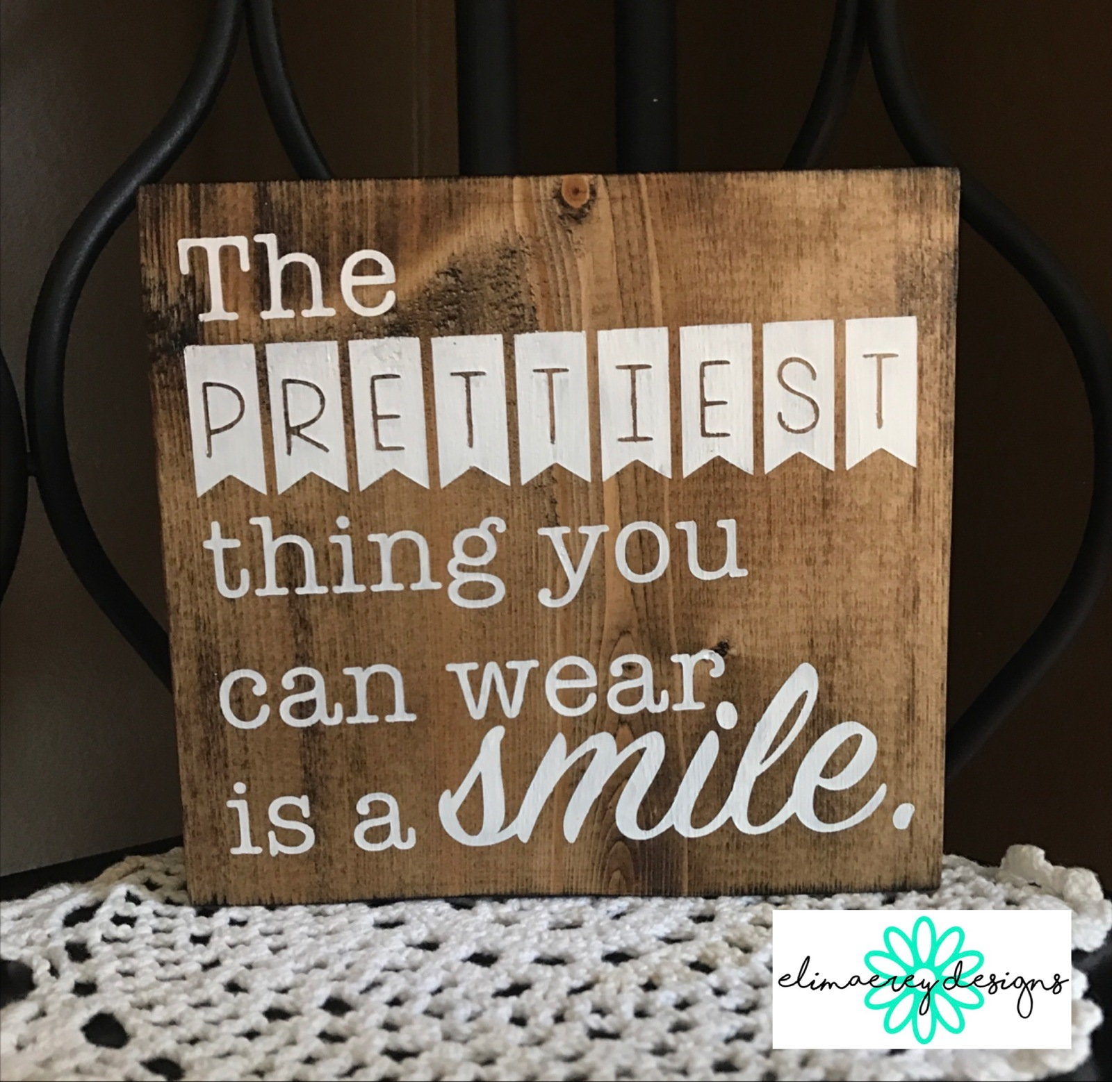 wear a smile handmade wood sign rustic home decor wall hanging
