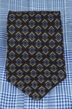 Kenneth Cole Men's Tie Eggplant Blue & Gold Printed Silk Necktie 56 x 4 in. image 2