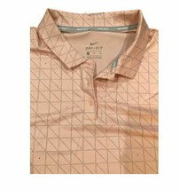 New Women's Nike Golf Dusty Pink Gray Polo Triangles 929453-646 Size Large - $25.00