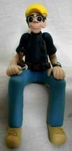 Construction Worker Shelf Sitter Figurine signed J Manning Limited Edition  - $19.79