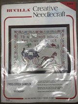 "VTG Bucilla Friendship Cross Stitch Kit on Linen 11"" X 14"" Sampler #1603 - $19.79"