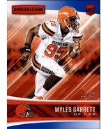 2017 Rookies and Stars Red and Blue #202 Myles Garrett RC /25 - $34.95