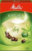 Melitta NATURA 1 x 4 Scatola di 80 Caffè Filtri realizzati con 60% bambù... - $6.41