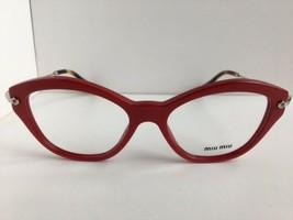 New Miu Miu VMU 02O UA4-101 52mm Red Cats Eye Women's Eyeglasses Frame - $229.99
