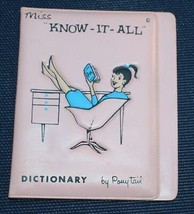 Vintage Miss Know-It-All Ponytail Dictionary 1950s/60s Vinyl Cover Only - $42.08