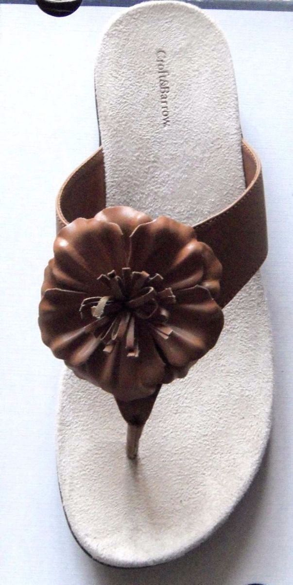9f2a5e2a5ac2 Flower Power Sandal Ginny Tan Flip Flops Thongs Croft   Barrow  45 Size8  Womens