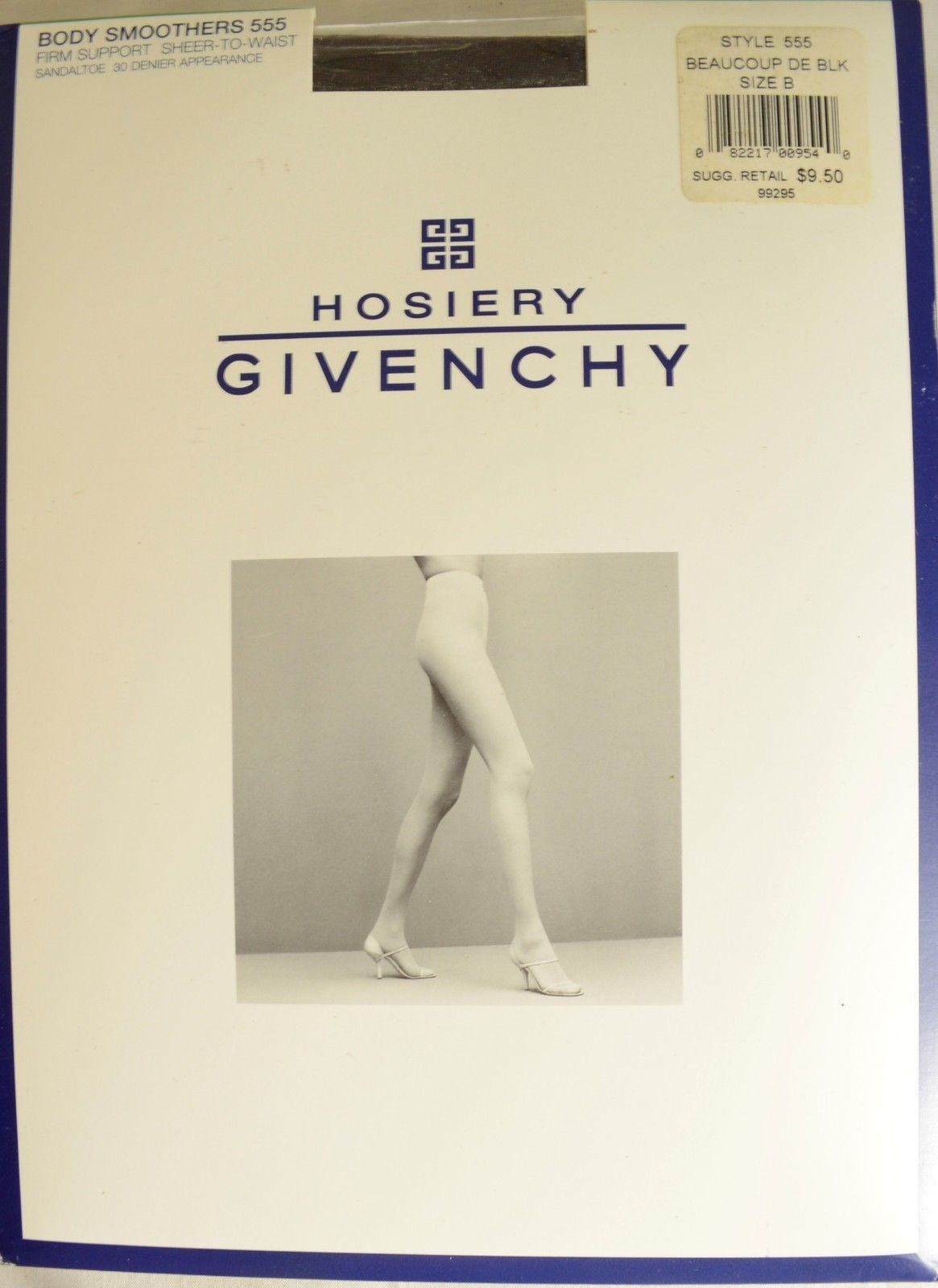 Givenchy hosiery B NIB Body Smoothers Firm Support sandal toe sheer to waist .