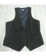 J Crew Mens 100% Wool Dark Gray Dress Vest Waist Coat Size Small - $44.55