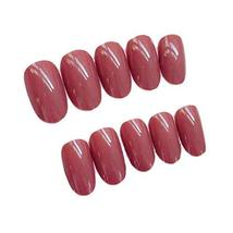 2 Box Simple Style Brick Red Artificial False Nails Tips Fake Nails Decoration