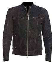 Mens Antique Motorcycle Cafe Racer Rider Black Biker Leather Jacket image 1