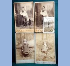 LOT 1800s antique 4 HARRY ORMSBY PHOTOGRAPHS philadelphia pa, cabinet - $42.50
