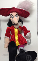 "Authentic Disney Store CAPTAIN HOOK Plush Stuffed Toy Collectible Doll 19""  - $18.69"