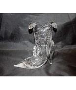 Vintage Crystal Boot Vase - $31.68