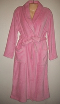 Plush JASMINE ROSE SOFT LUXURIOUS WRAP Shawl Collar ROBE - $30.00